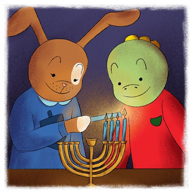 Clover invited me over for some homemade latkes! I love watching her light the menorah. The lights are so pretty! What Hanukkah traditions do you have with your friends or families? 🕯❤️🕎 #tommythedinosaur #hanukkah #friendsandfamily . . . #educational #childrensbooks #childrensbook #childrenbooks #read #readingisfun #goodreads #instabooks #bookworm #school #library #kidsbooks #booklovers #socialjustice #socialchange #literacy #mommyblogger #blog #teacher #school #kidlit #kidsbookstagram #kidsreading #picturebooks #momblog #mommylifestyle