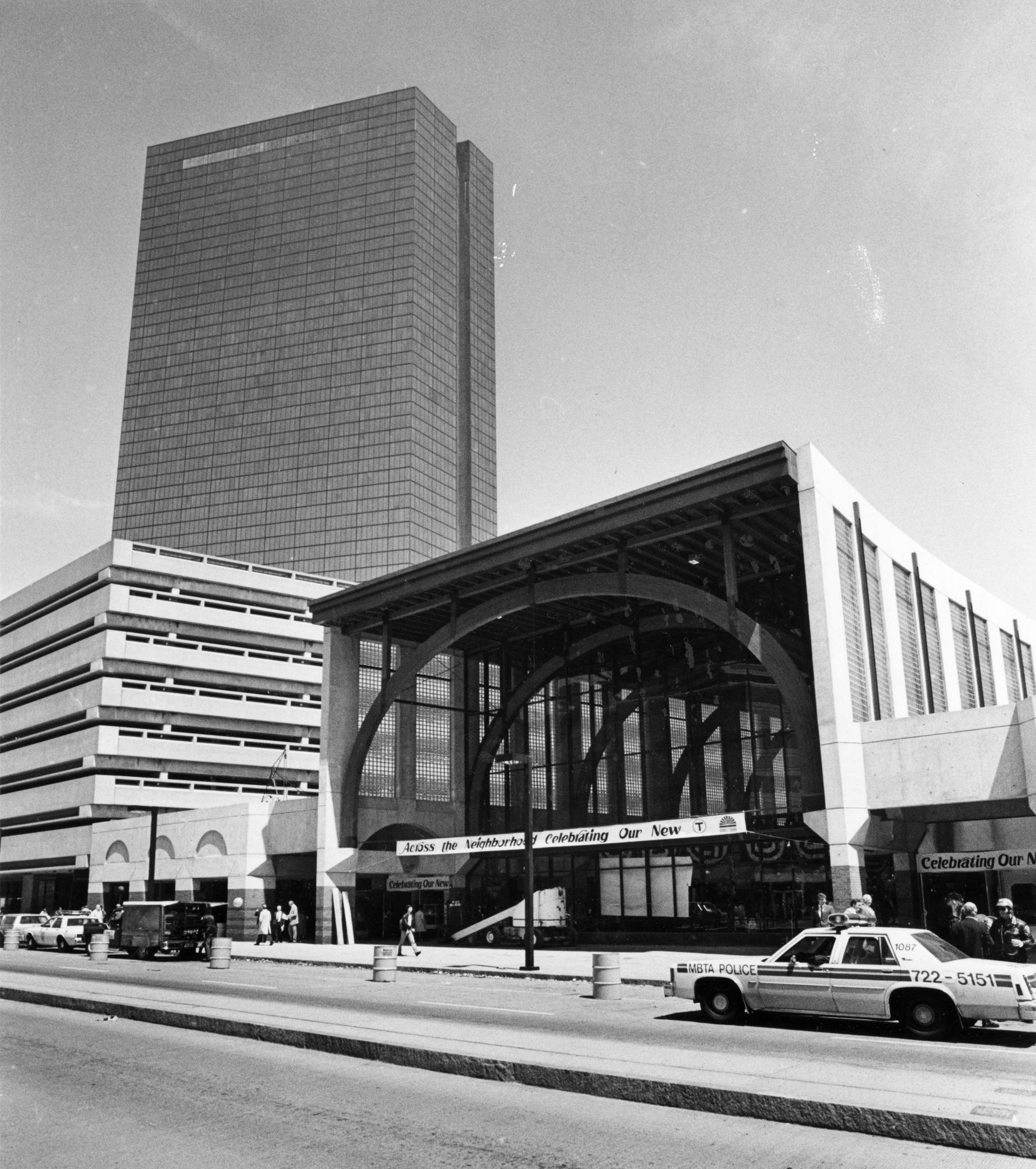 GLOBE STAFF/FILE  The present edition of Back Bay station opened in May 1987.