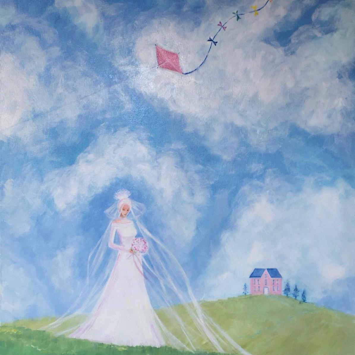 Image;   Tracey Yannopoulos, Spring Bride, oil on canvas, 80cm x 125cm