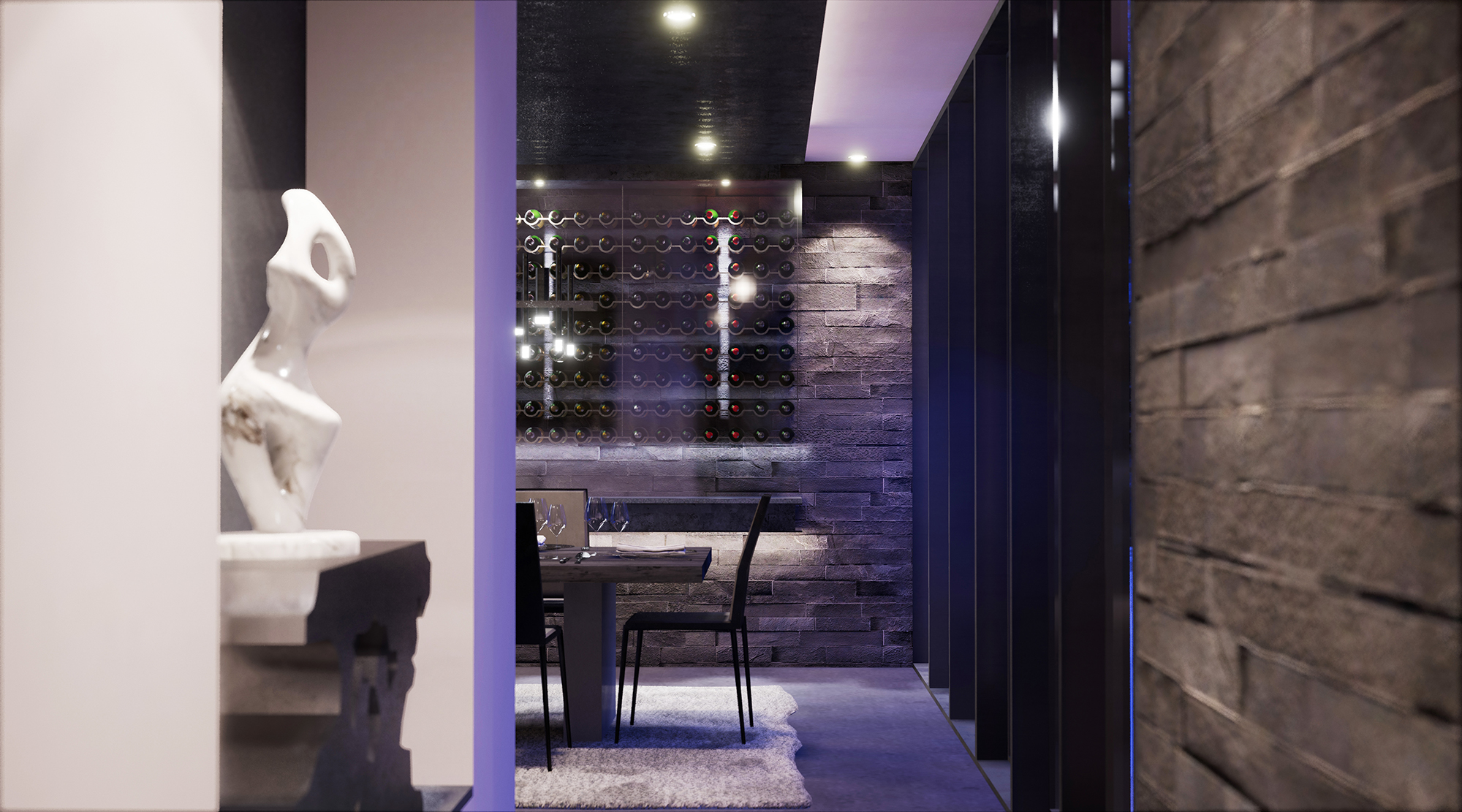 Hallam Residence Wine Room