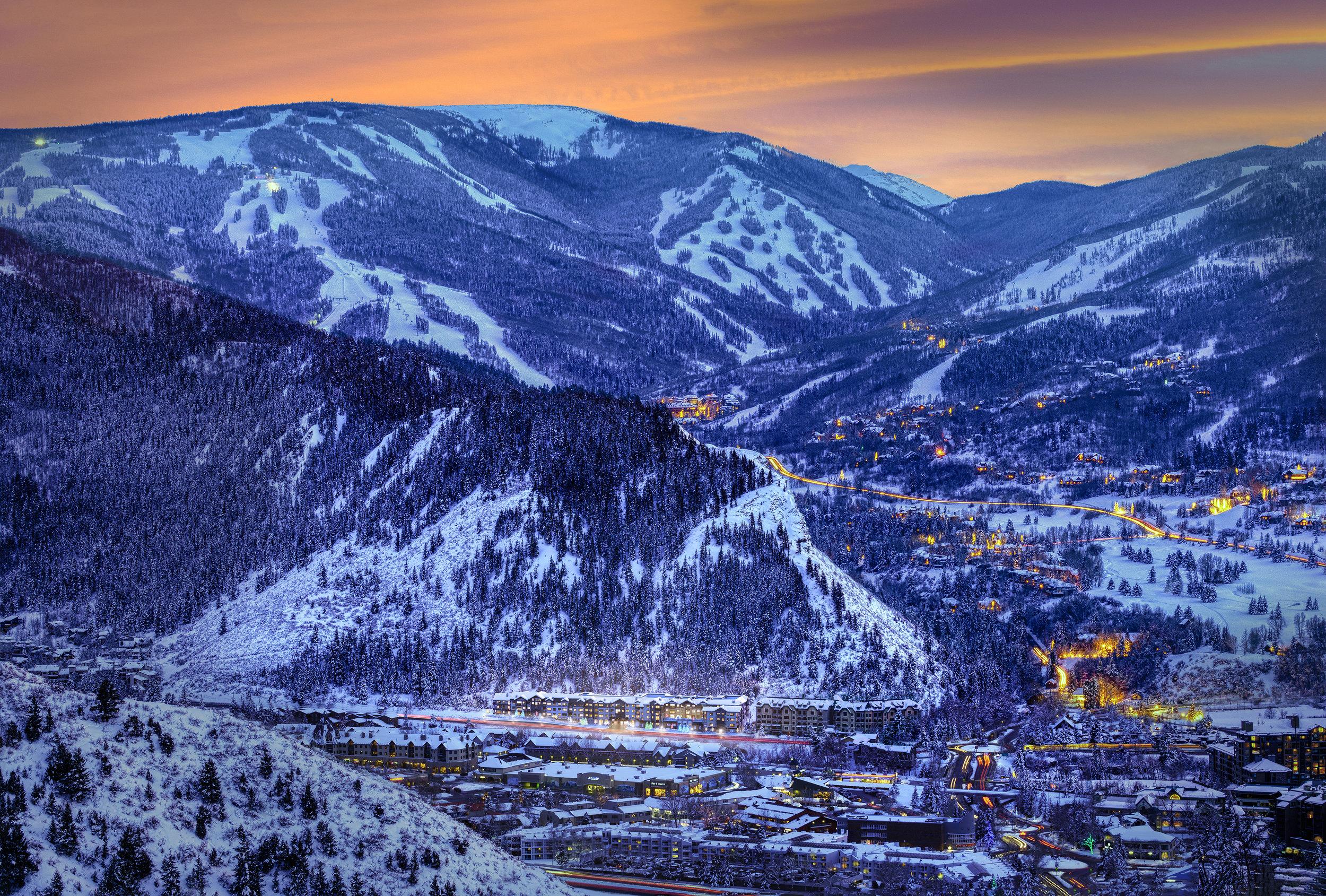 Vail, Colorado Aerial