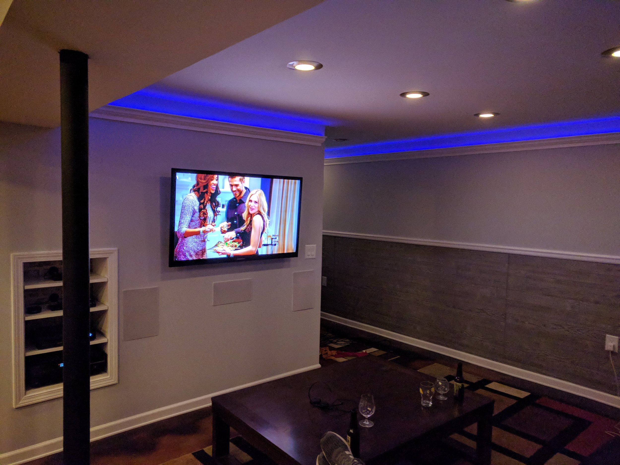 Home Theater w/Automated Lighting