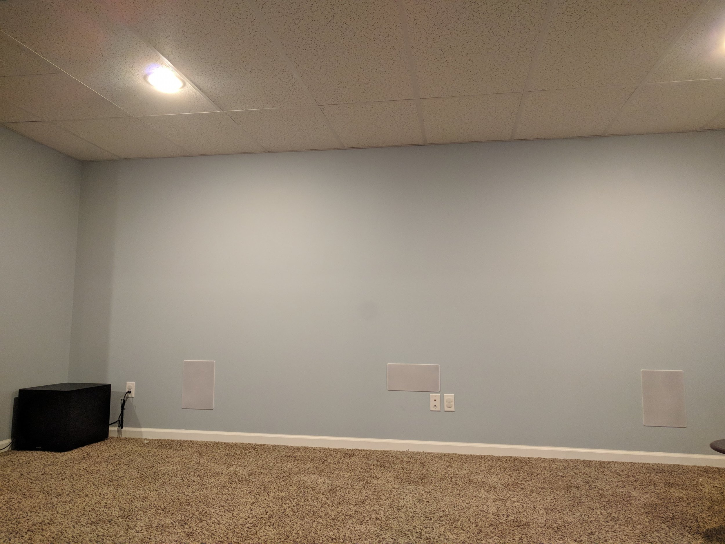 Basement Home Theater Install
