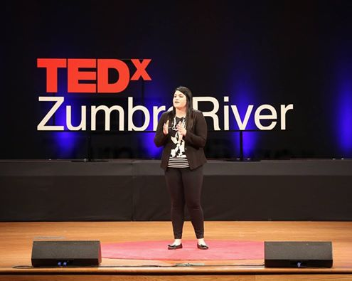 Tori Utley, Founder and executive director of more than an addict presenting at tedxzumbroriver on may 5, 2016