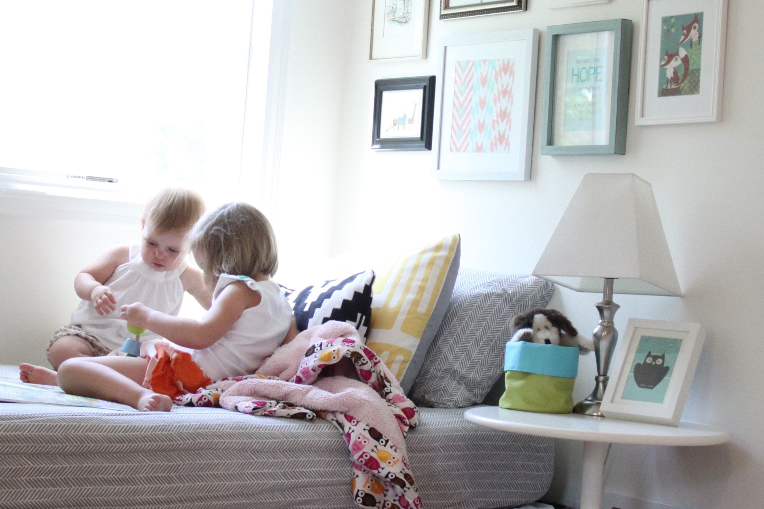 Nursery Girls in the Reading Nook