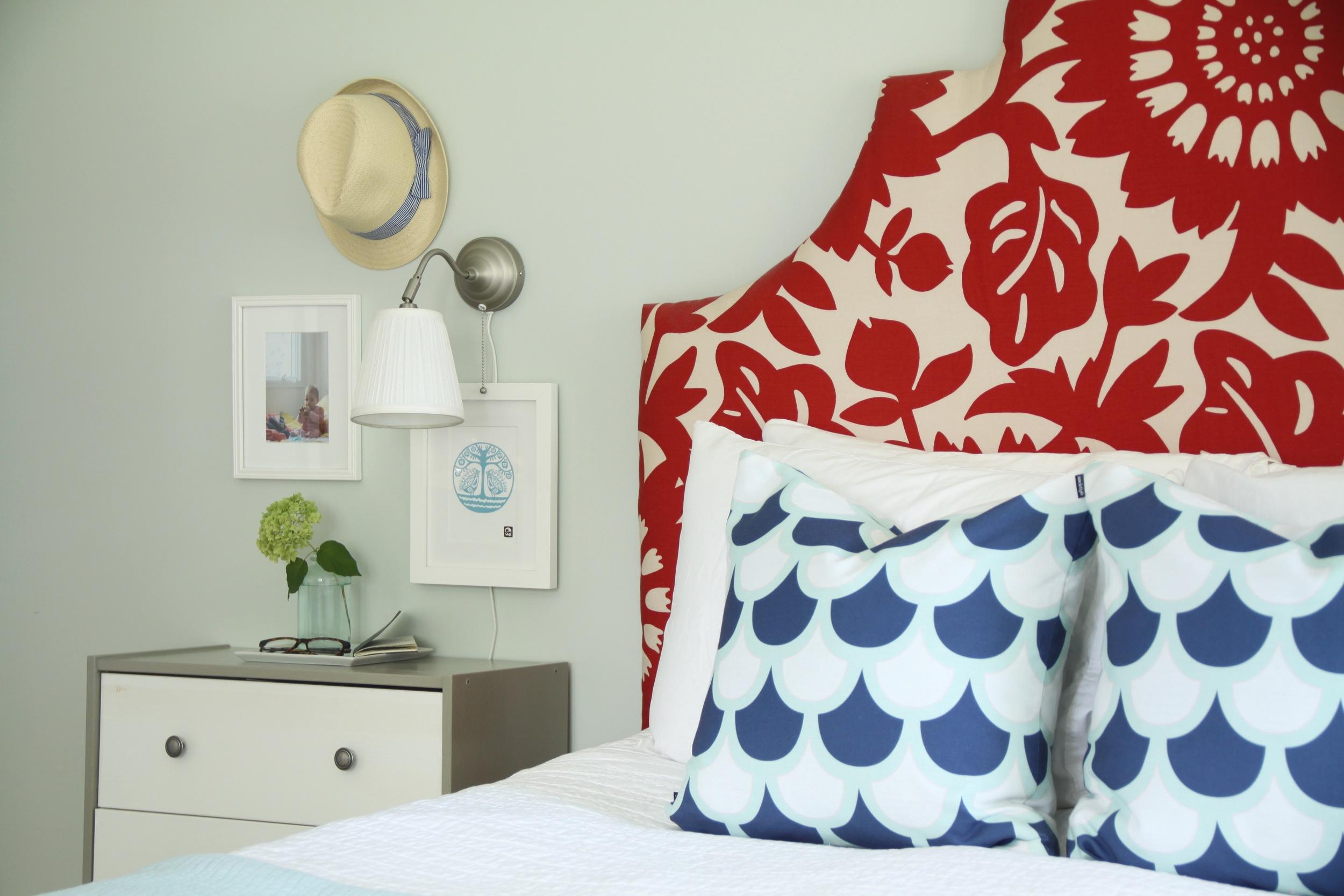 Master Bedroom Floral Headboard