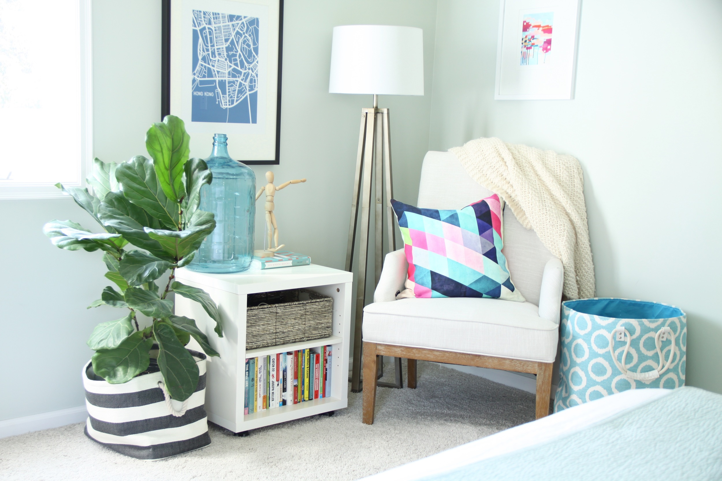 Master Bedroom Reading Corner Healing Aloe Paint