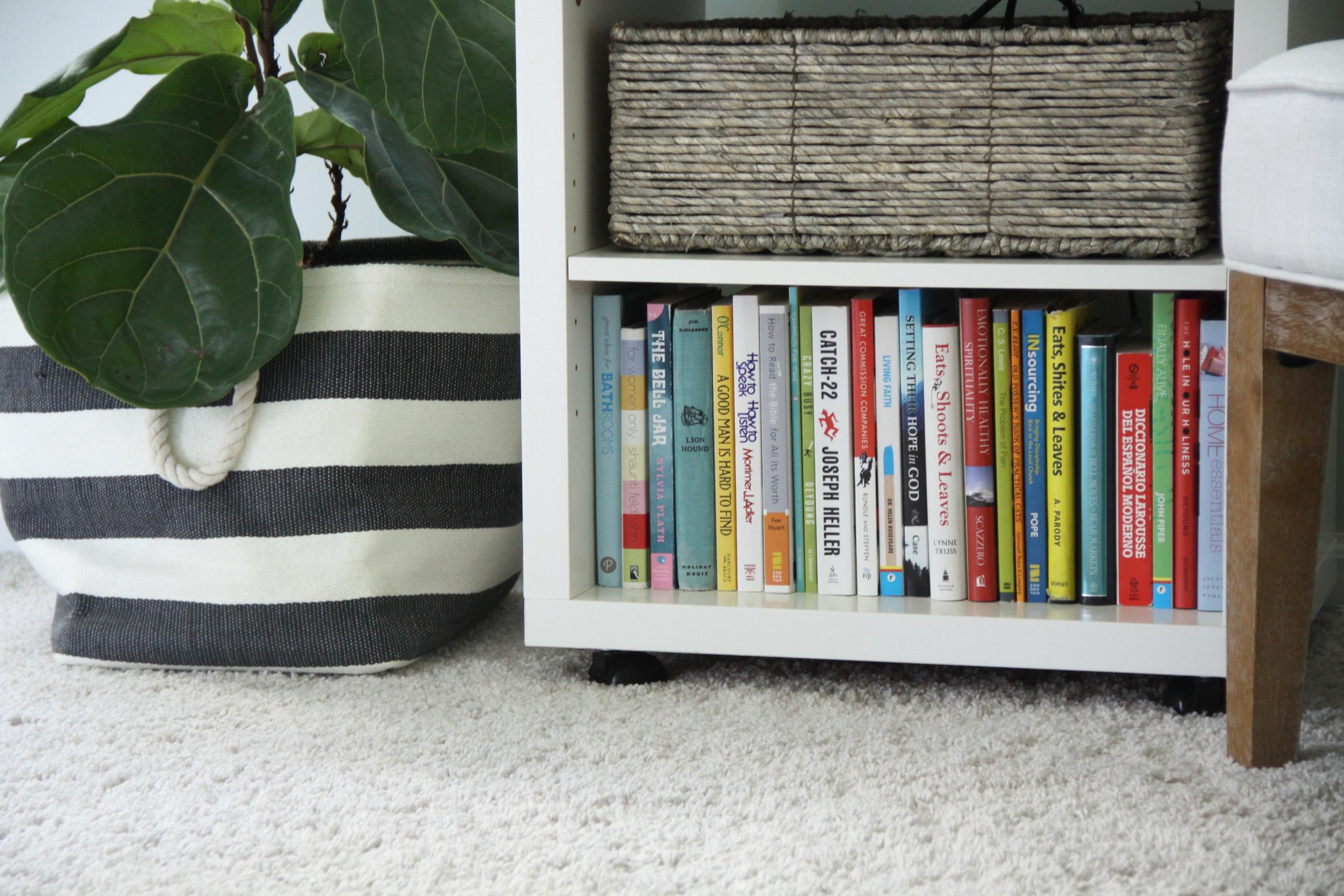 Master Bedroom Colorful Bookshelf