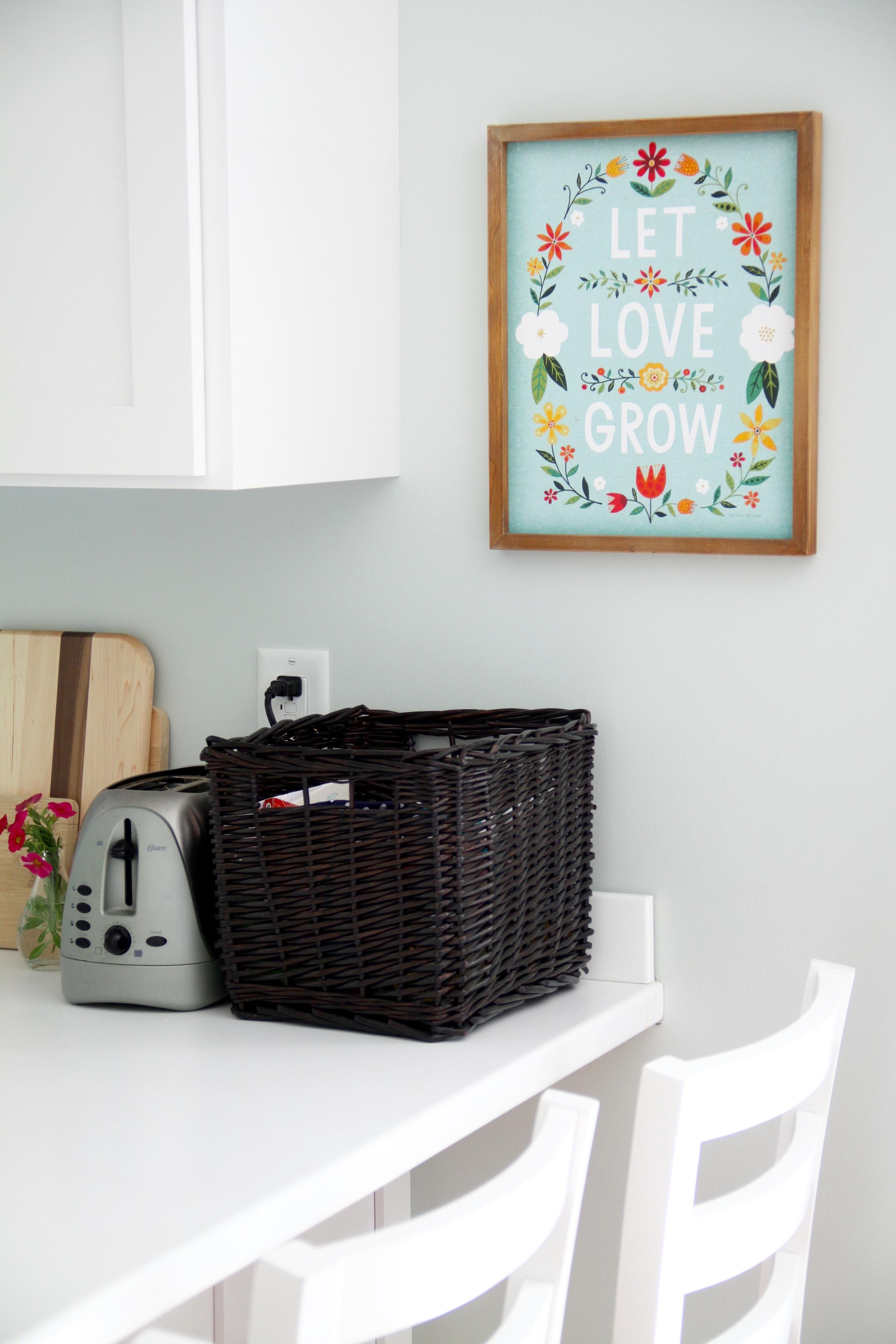 White Kitchen Let Love Grow