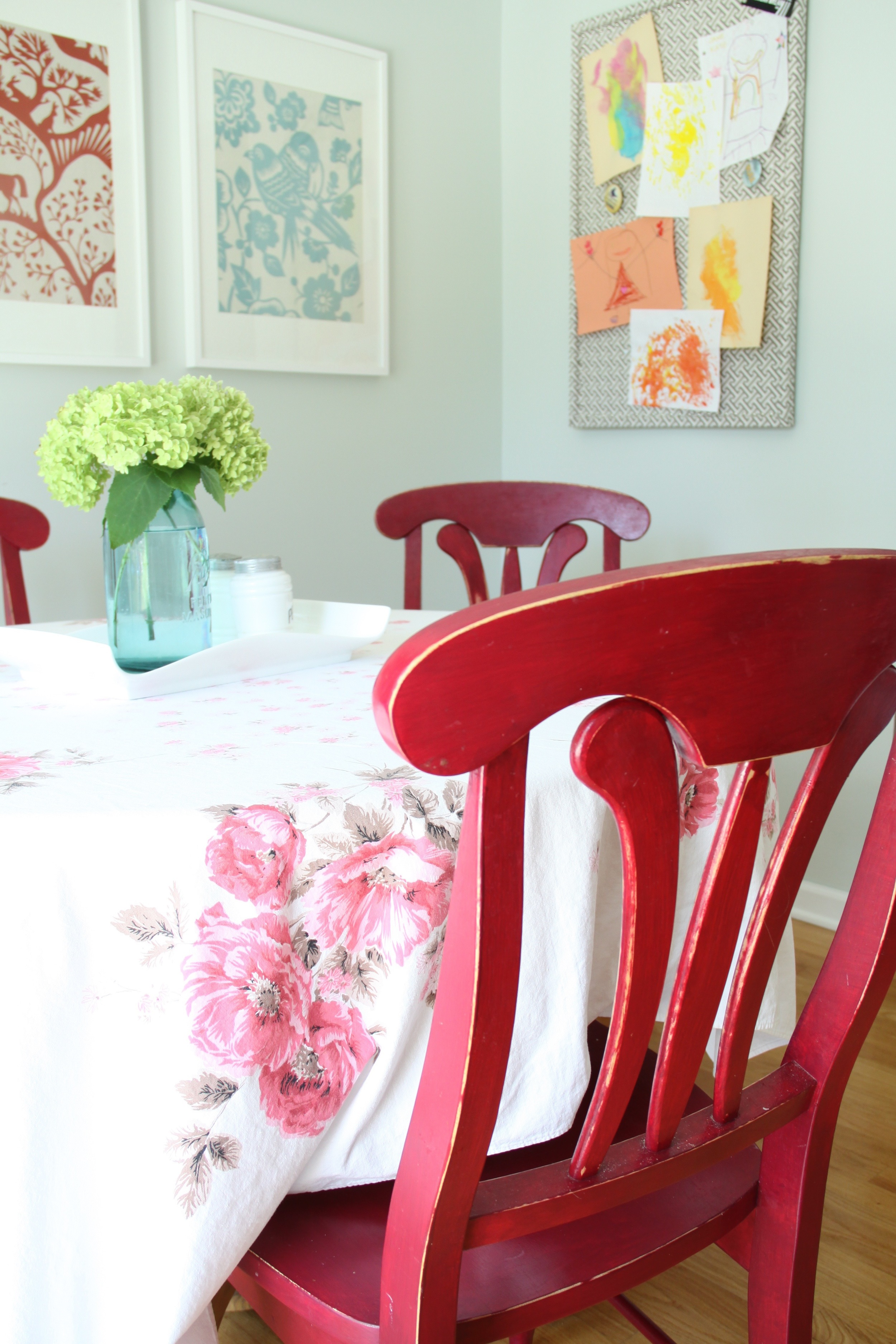 Dining Area Red Chairs