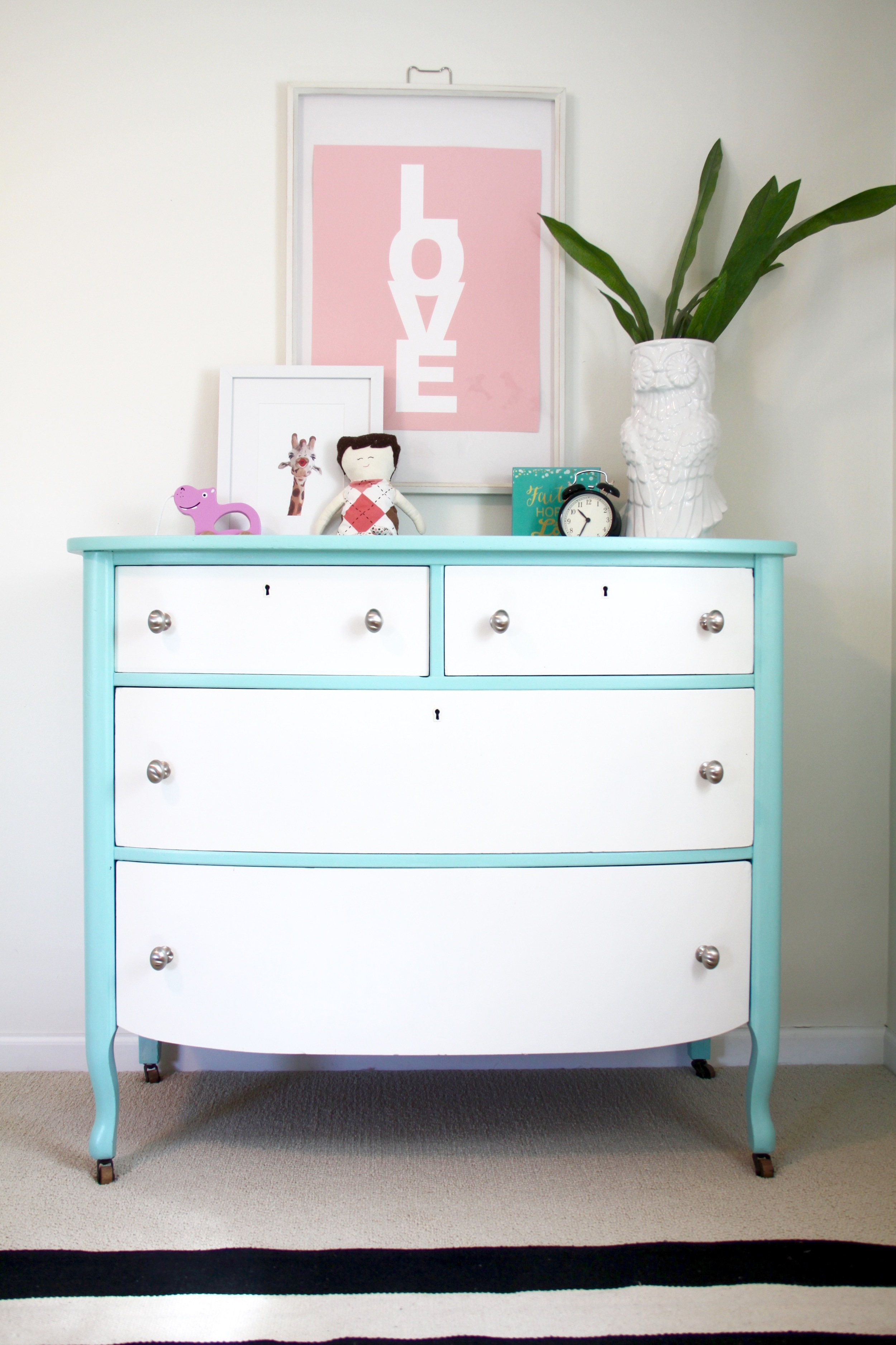 Nursery DIY Painted Dresser