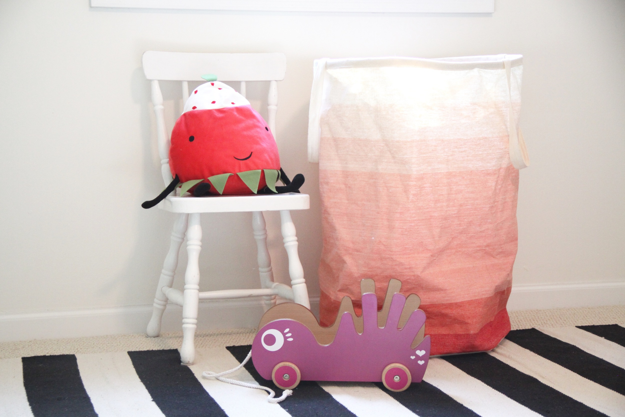 Nursery Child's Chair and Laundry Hamper