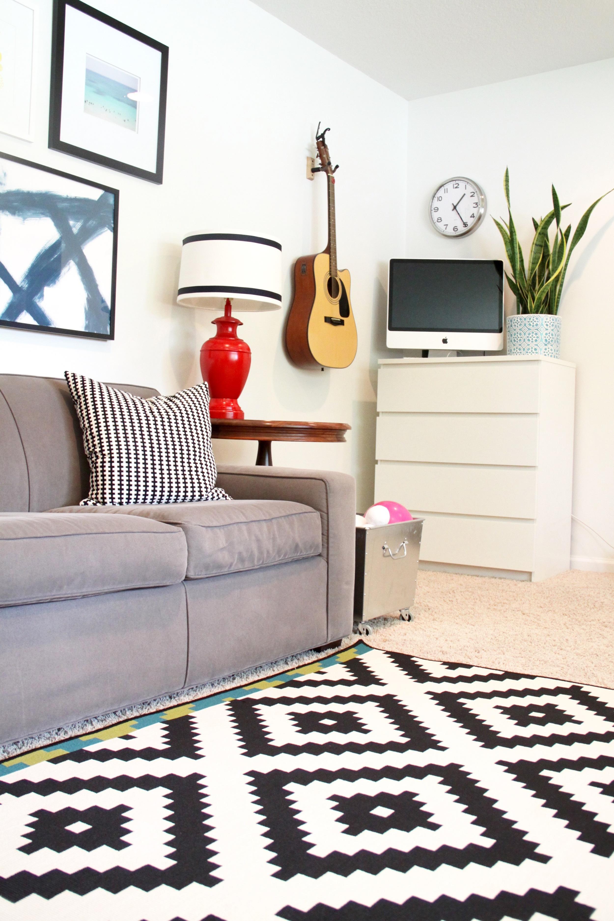 Living Room Hanging Guitar
