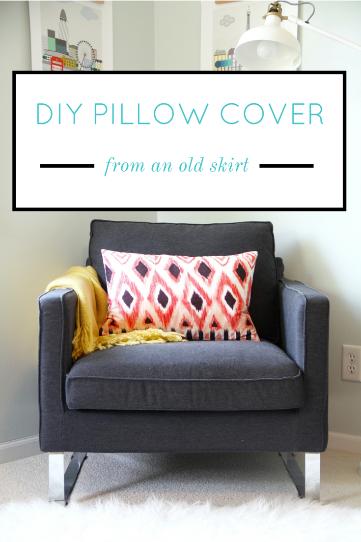 DIY Pillow Cover from an Old Skirt