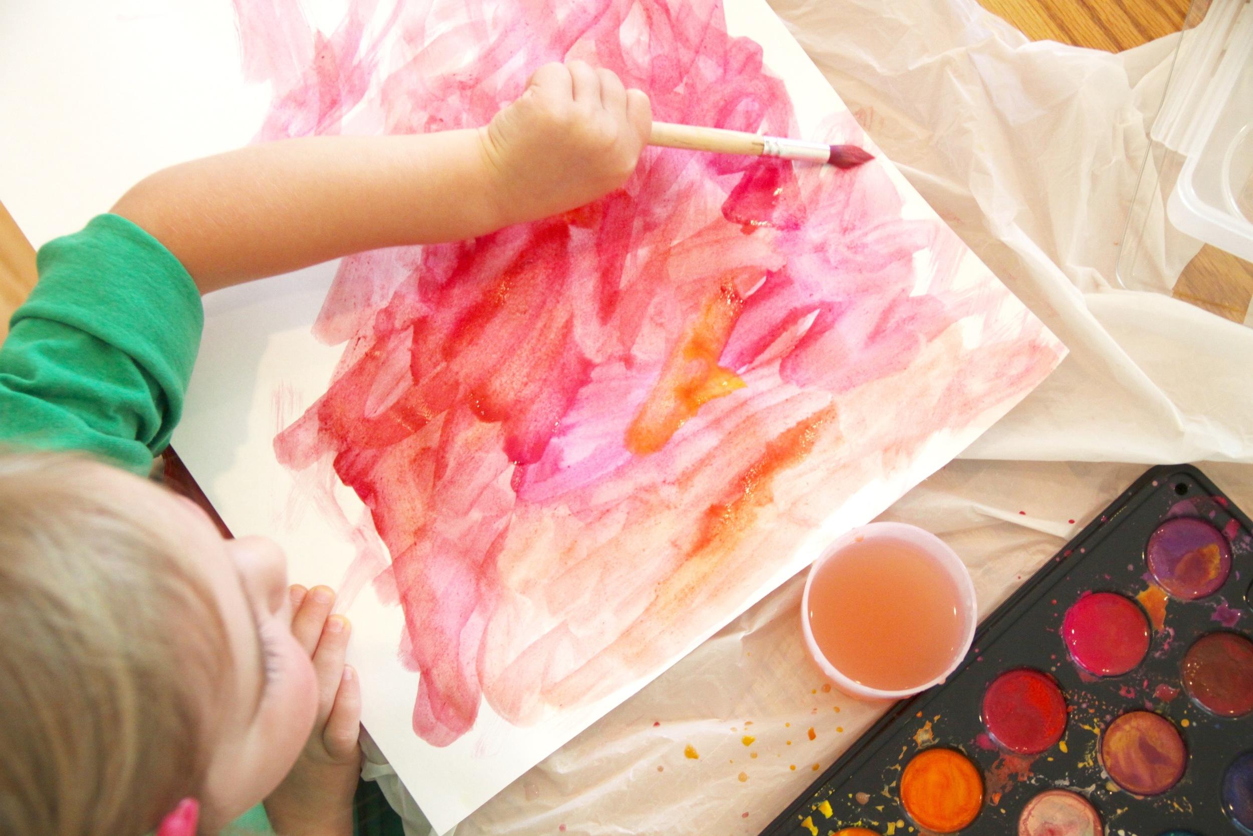 Kids Watercolor Abstract Art