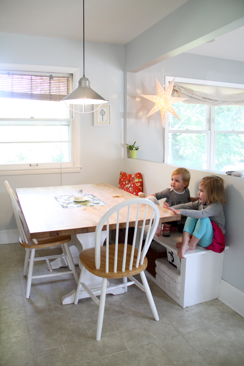 Banquette Seating, a Built-In Dining Area in Kitchen