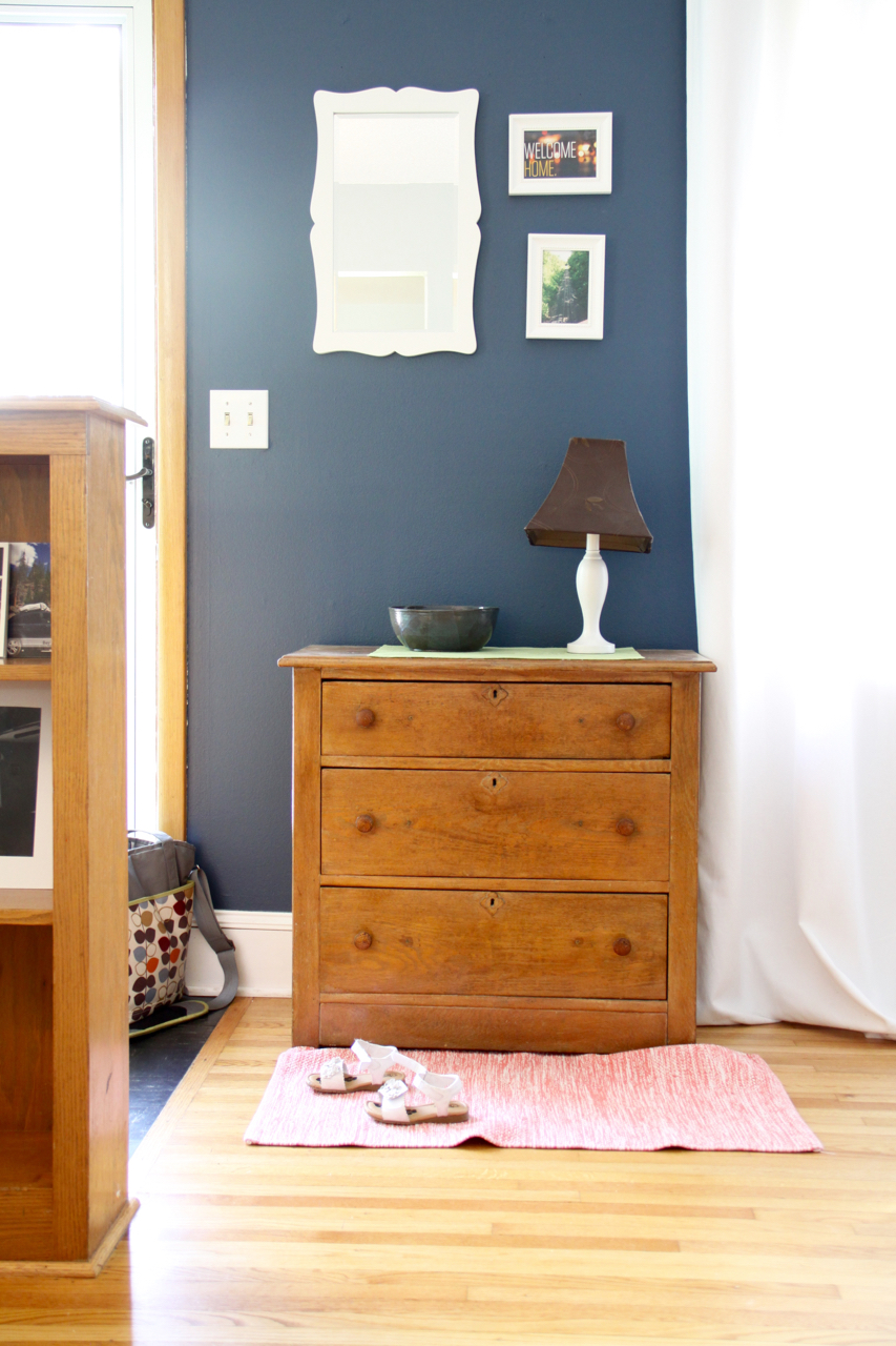 Entryway with Dresser and Mirror