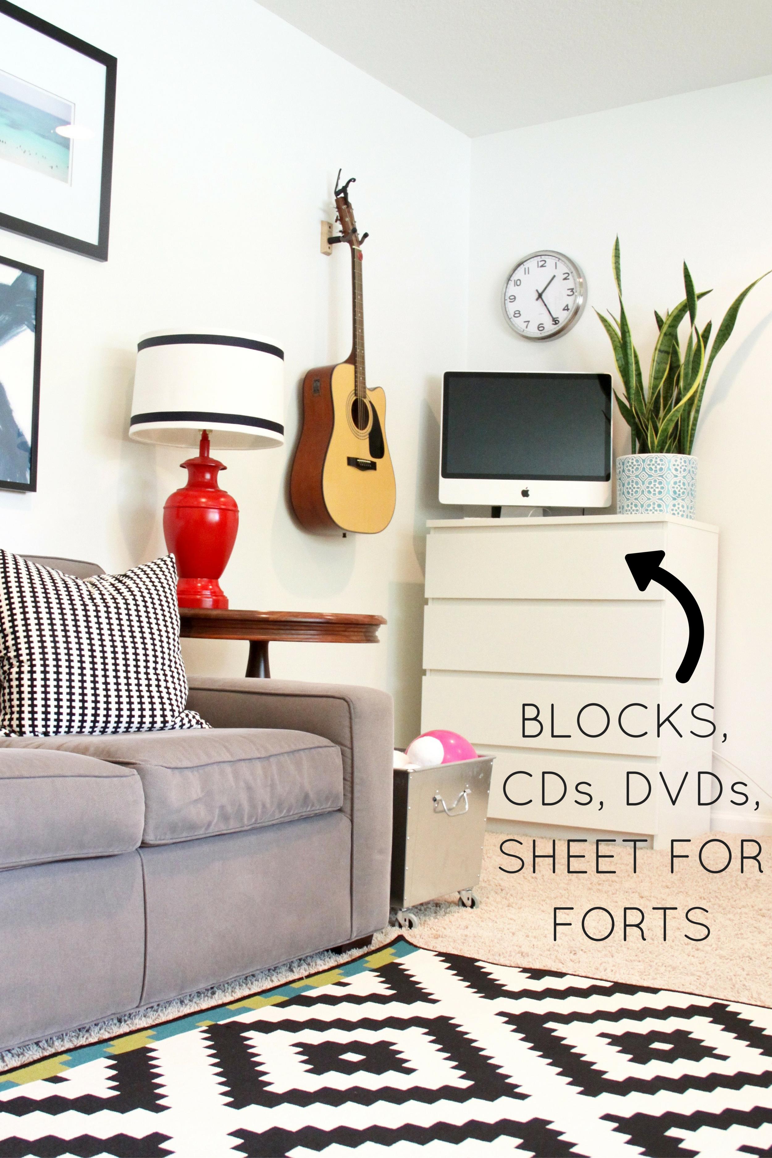 Dressers as Living Room Storage—IKEA MALM