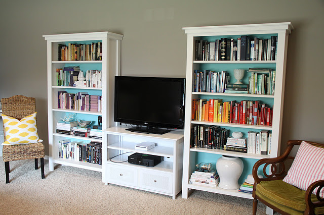 Bookshelves and TV