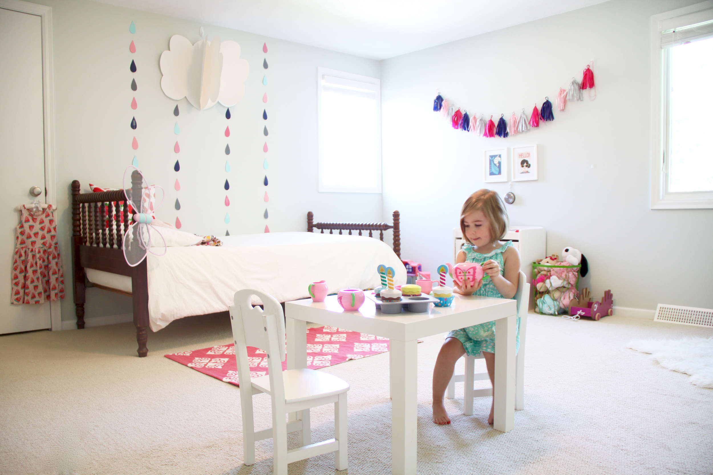Girls Room with Jenny Lind Bed