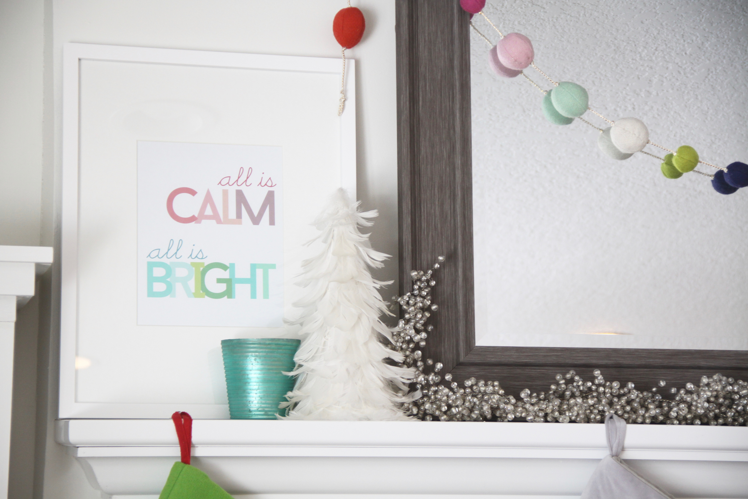 Christmas Bright Colors, Bright Art Print