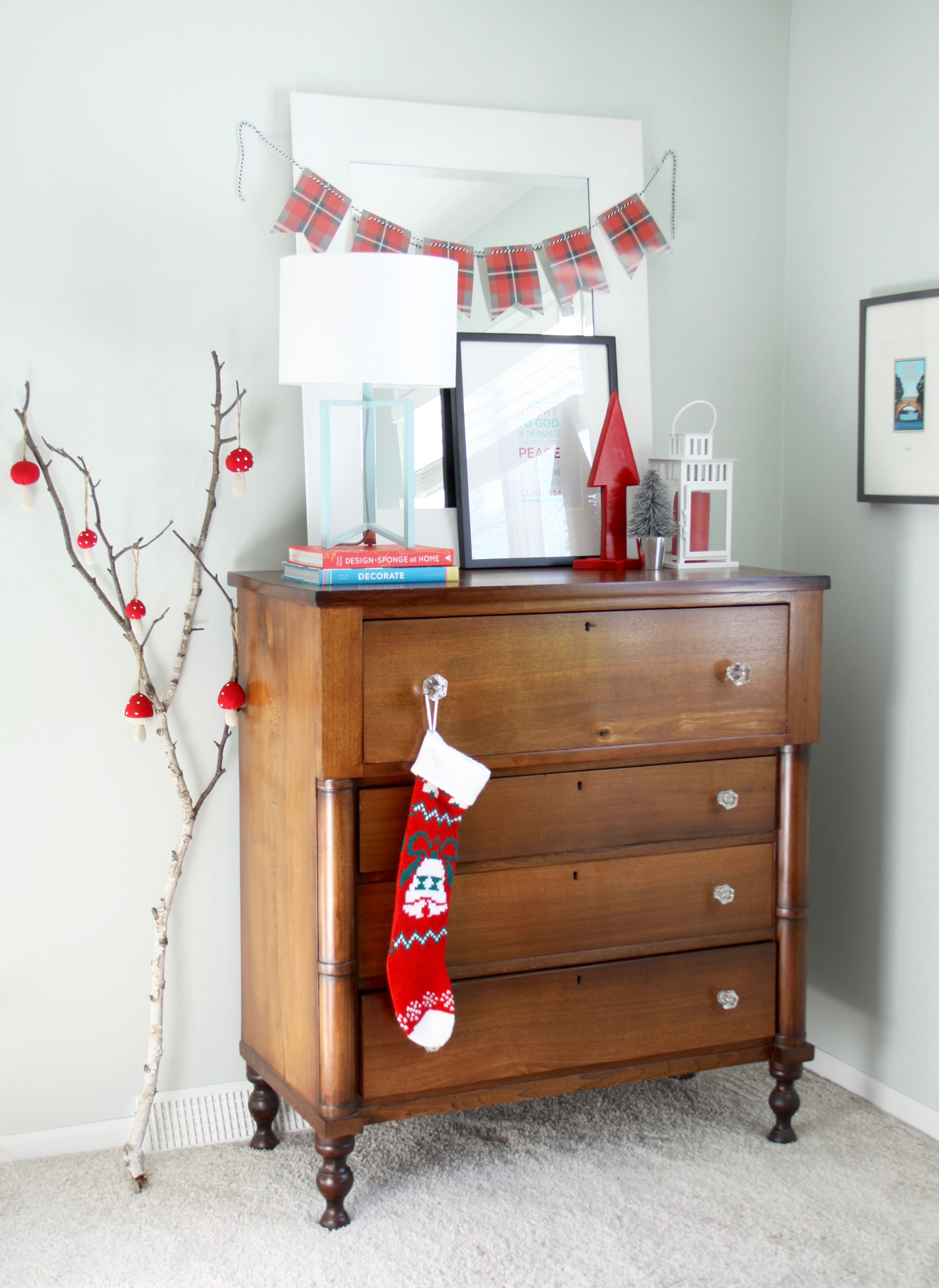 Modern Rustic Campy Christmas Decor