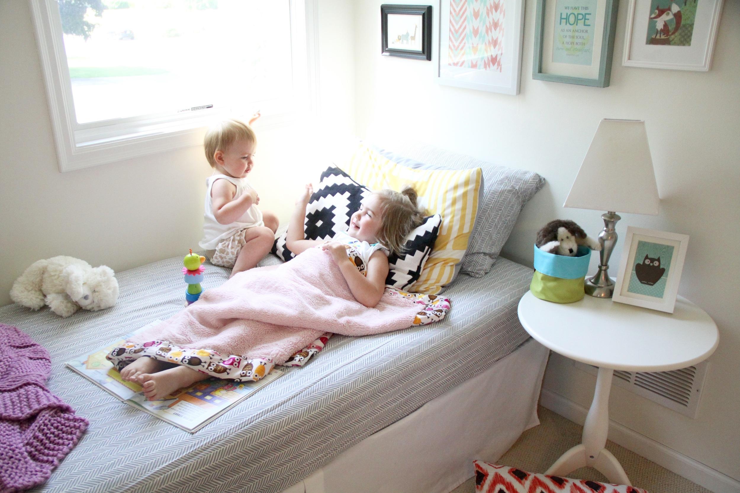 Girls Nursery Daybed Nook
