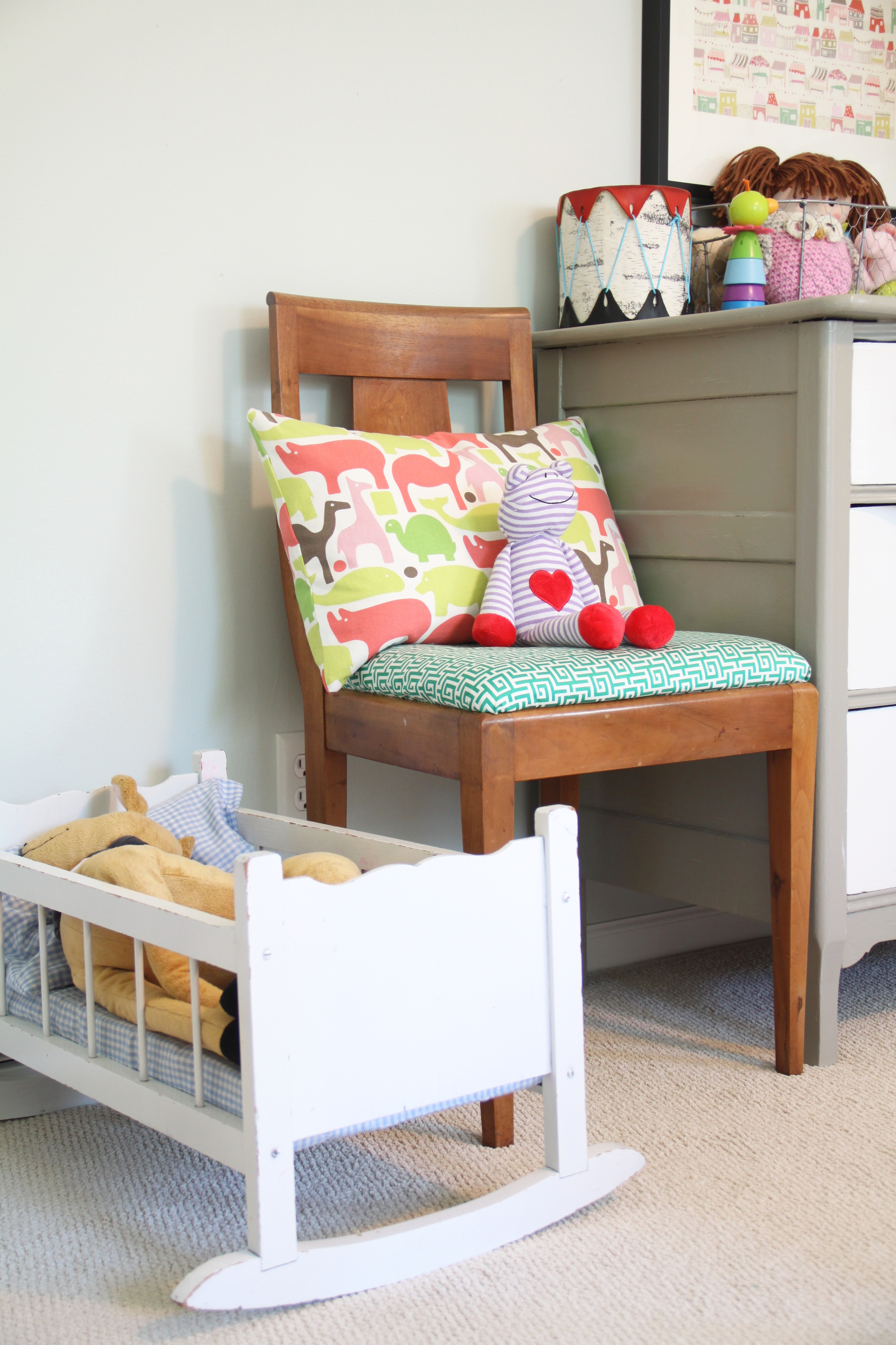 Girl's Room with Vintage Doll Crib