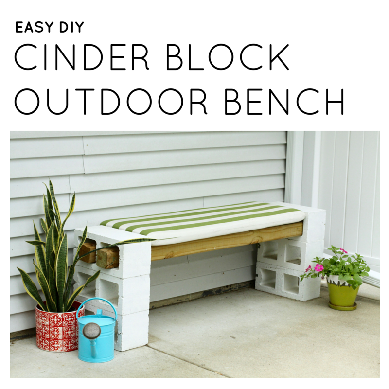 Easy DIY Cinder Block Outdoor Bench