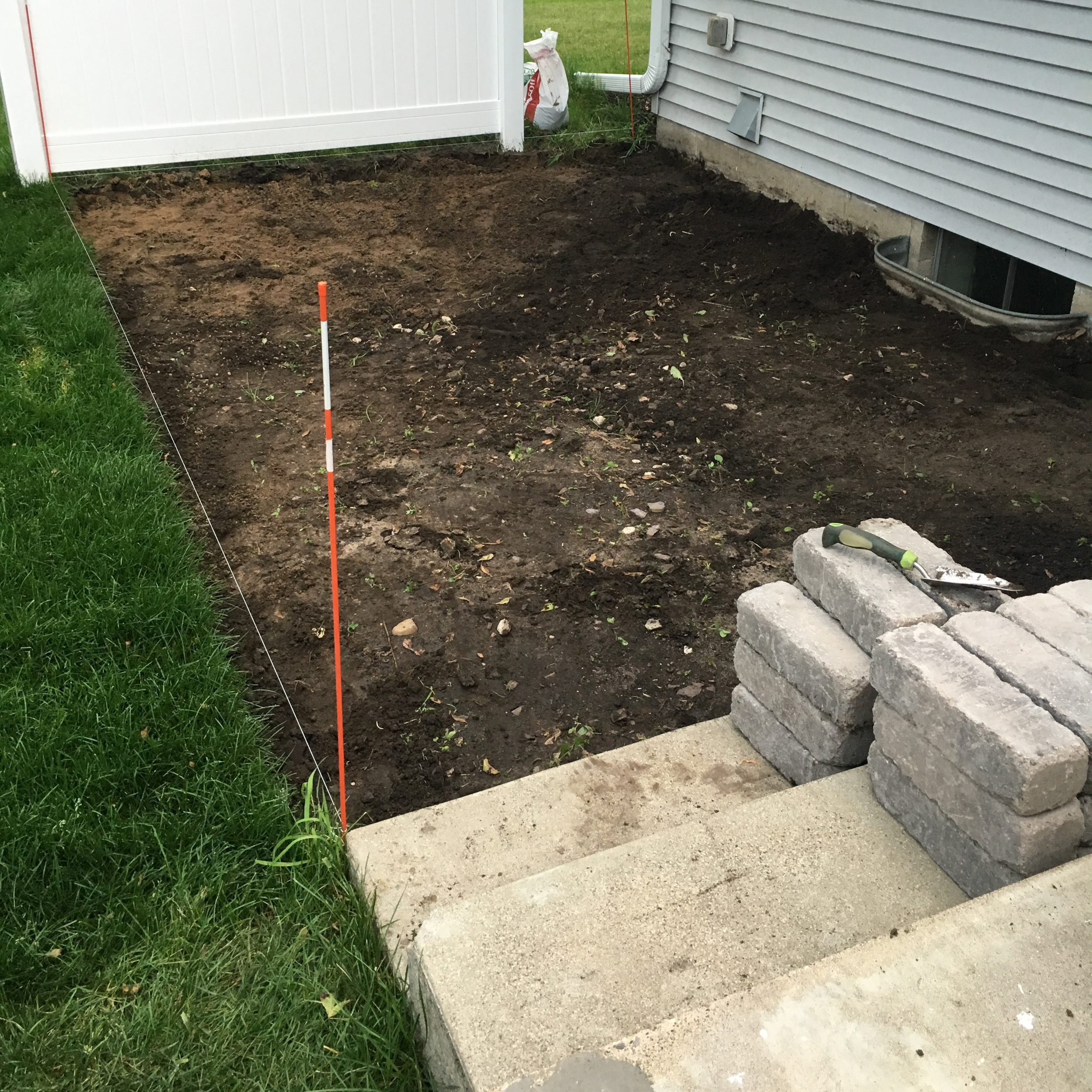 Prepping Soil for Pea Gravel Patio
