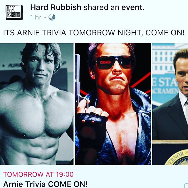 I AM HOSTING THIS. I LOVE ARNIE. COME ONNNN!!! See you tomorrow from 7 at @hardrubbish_bar