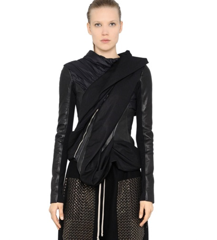 rickOwens draped canvasnappaleather jacket.png