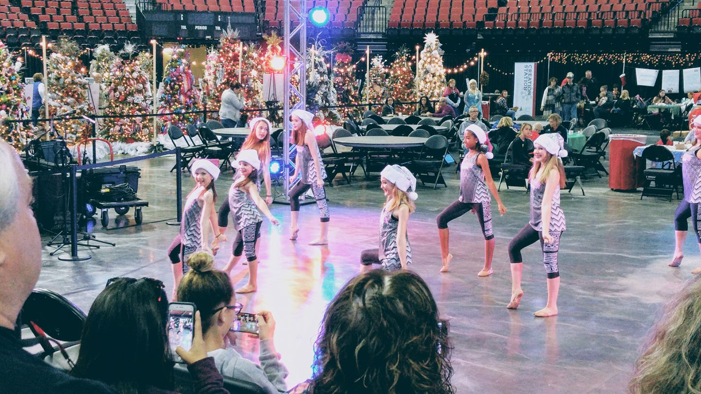 Company dancers performing their Christmas number