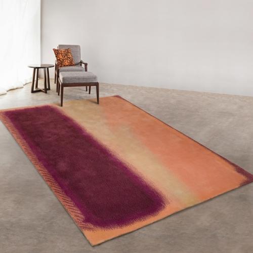 半手工羊毛毯 #005588   100% 純羊毛  5.3 x 7.7 (160 x 230 cm) 現貨1件
