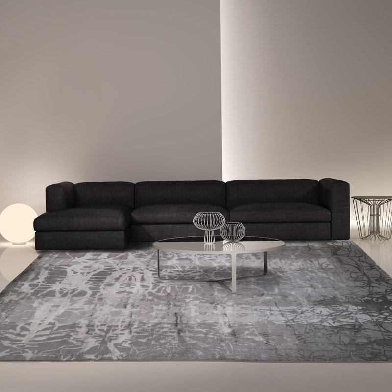 羊毛絲毯Scratch Platinum #000759  9 x 12 (270 x 360 cm)