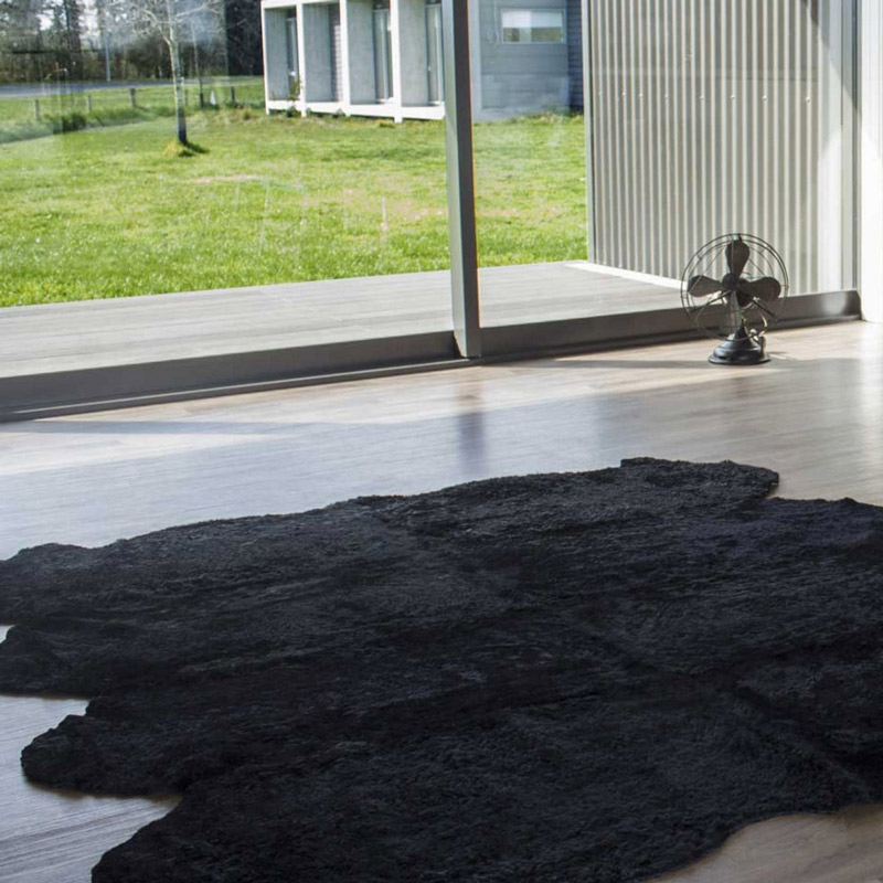 Bowron Long Wool Natural Shaped 8PC  羊毛皮 Dark Brown: 110 x 180 cm 現貨1件* Paco: 180 x 214 c 現貨1件*