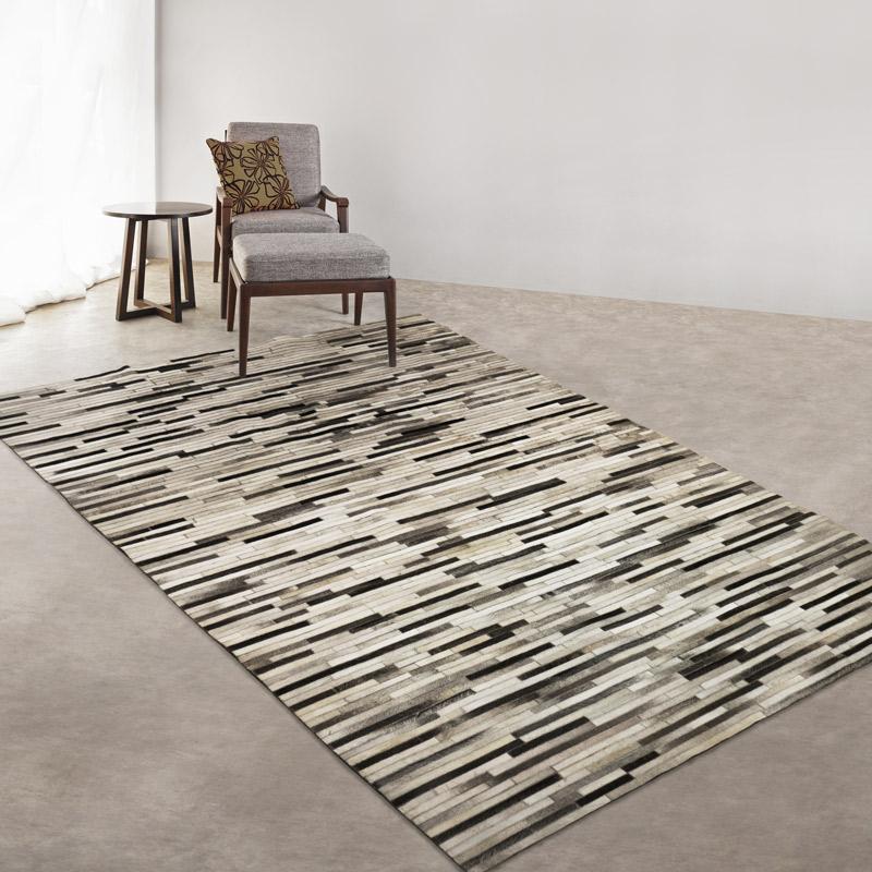 GA-01 黑米咖啡色系皮地毯  馬毛皮毯 200 x 300 cm 現貨1件*