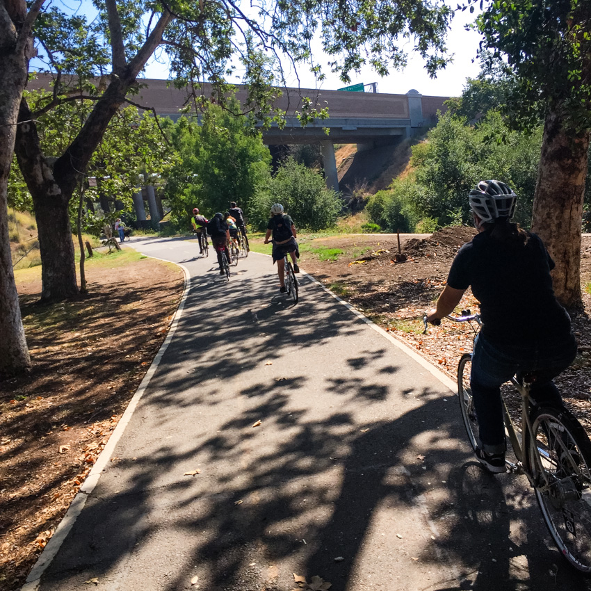 Trail through Santiago Park.