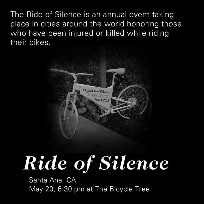 Flyer for the 2015 Ride of Silence, Santa Ana's first.