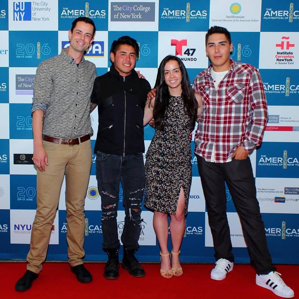 (from left) Adam Garnet Jones, Andrew Martin, Arianne Pinedo, Herley Legarde-Beacham