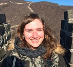 Jenn on the Great Wall with the NYU Albert Gallatin Scholars.