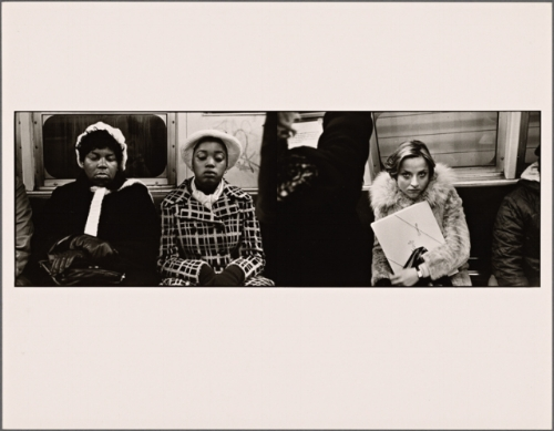 "Photo credit: Alen MacWeeney, photo project, ""New York Subways"" (1977)"