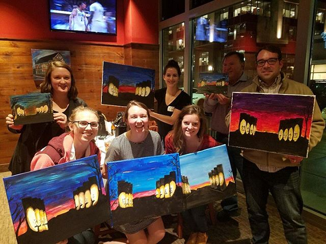 We had a blast last night at Paint Night! We're grateful for everyone who came out for the event, and a big thank you to Ira and Kayla for being such wonderful (and patient) teachers.