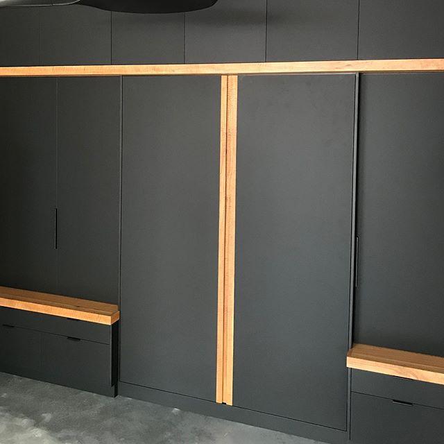 Absolute Matt Black | Marri 👉🏼 Swipe to see a bed hiding behind this cabinetry  #dunsborough #dunsboroughwoodworks #australia #furniture #bed #design #home #interiordesign #homedecor #bespoke #custom #cabinetry #interior #westernaustralia #perth #yallingup #busselton #perth #margaretriver #bedroom #inbuilt #builtin #guestroom #interior