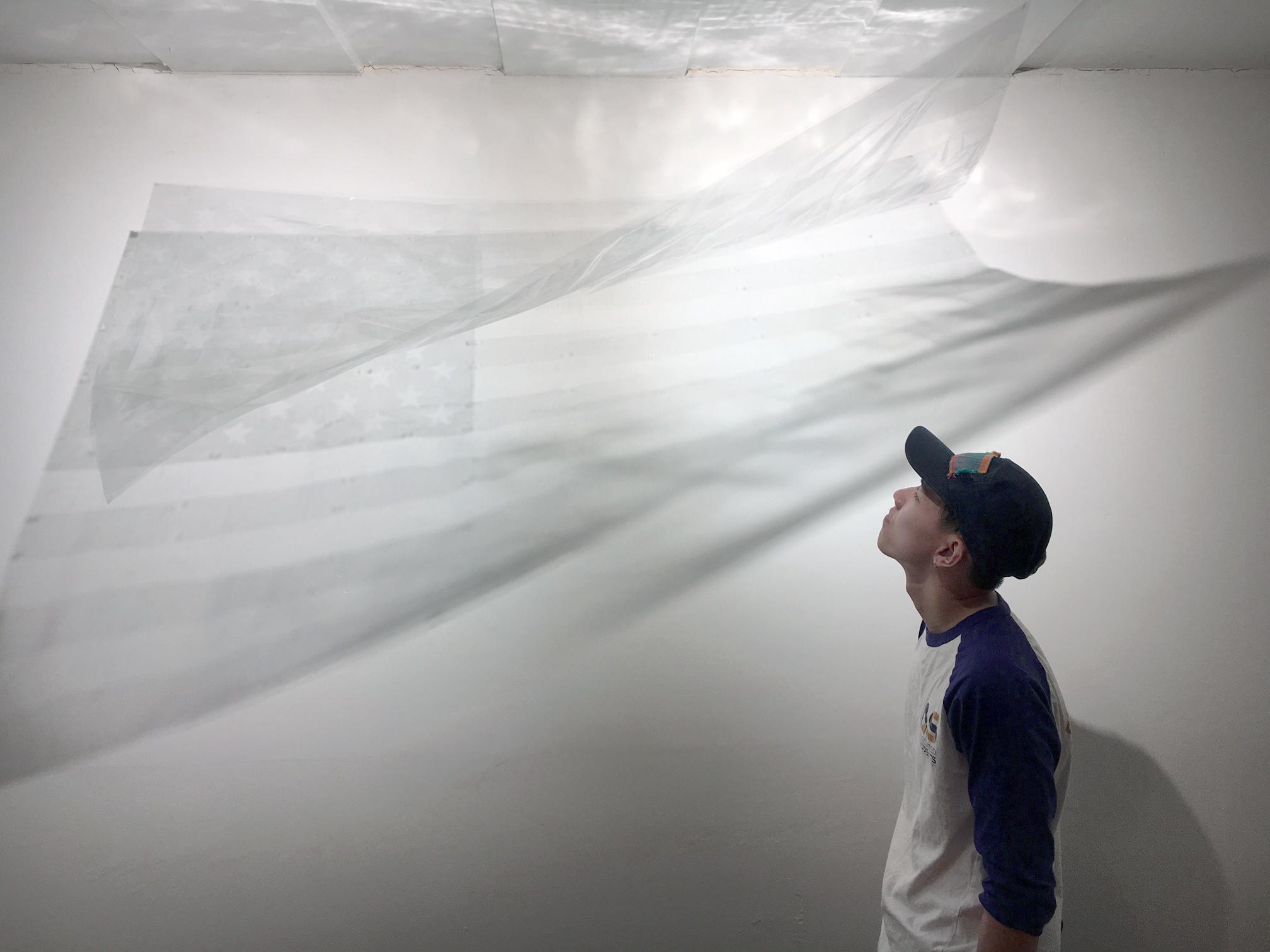 Transparent Flag , Installation Shot, Incline Gallery, 2017