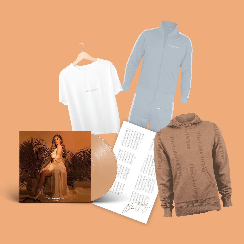 LP (beige)+ Hoodie + T-Shirt + Tracksuit + signed Handwritten lyric reproduction poster.jpg