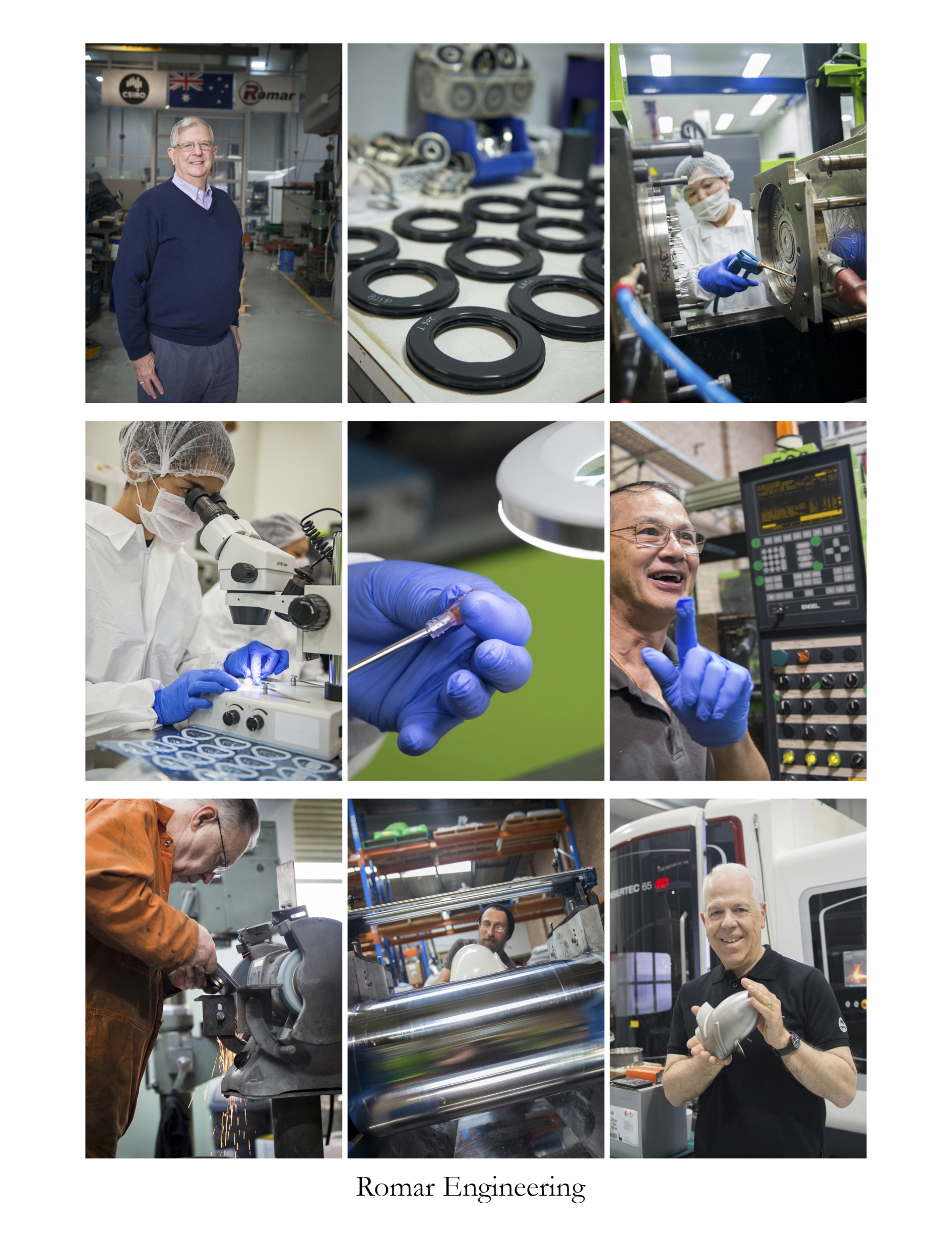 Romar Engineering needed a range of photos showing the people that work there and the technology that is used. Imagery needed to be used on their website and for marketing material.