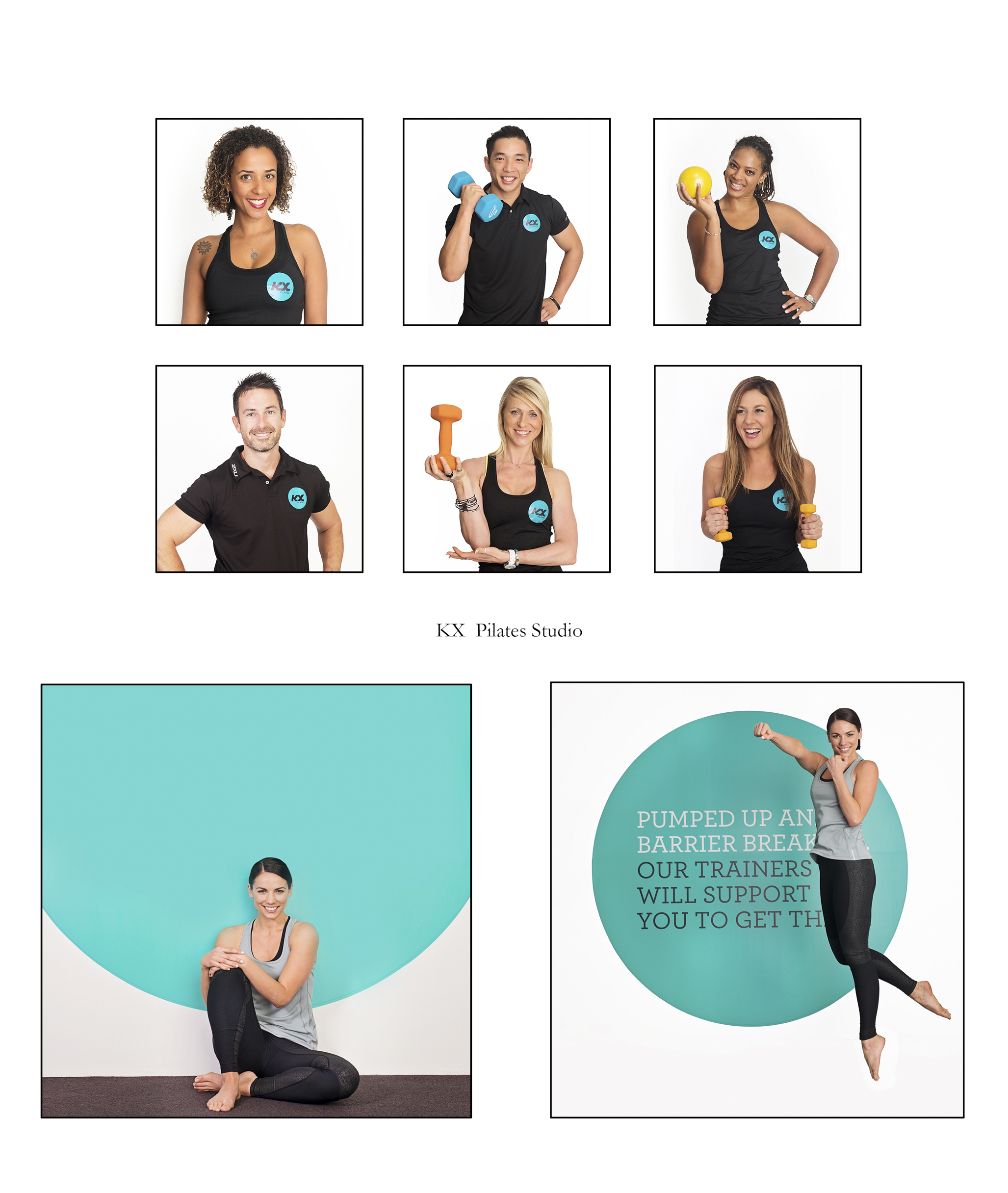 Images needed for KX Pilates Studio for marketing material