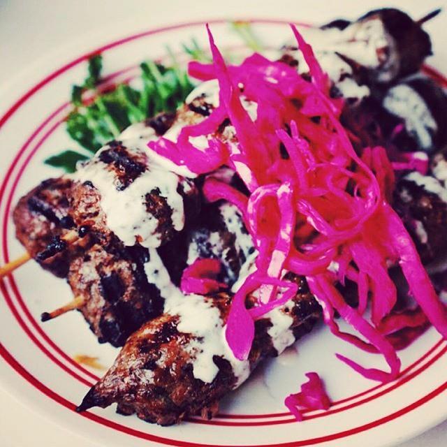 Bbq lamb kafta on fire tonight!  # kebabs #bbq # lebanesefood# enmore#kebabs# newtown