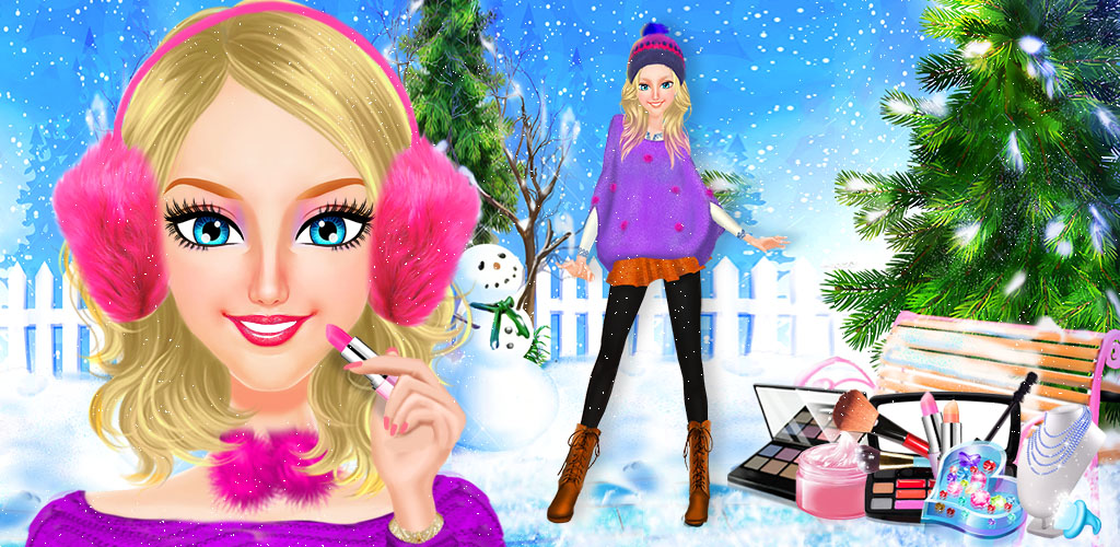 North Pole Holiday  Winter fashion season is here! Are you ready to make these girls look their absolute best? Run your own beauty salon with North Pole Holiday!, a fun dress, style and makeup game just for girls!These winter wonders need your help to look stunning.
